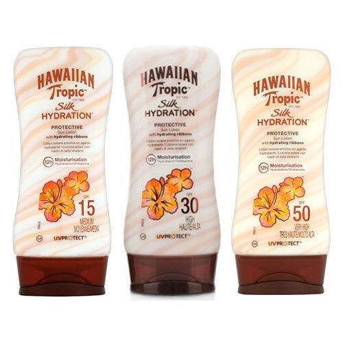 HAWAIIAN TROPIC SILK HYDRATION SUN TAN LOTION CREAM 180ML - CHOOSE FACTOR