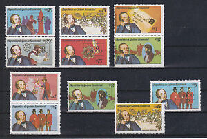 """Briefmarken Schöne Markenzusammendrucke Ecuatorial Guinea """" Sir Rowland Hill """""""