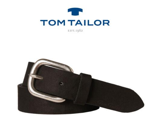 Tom tailor Femmes Ceinture-Femmes Ceinture-Ceinture cuir-velour-Cuir-Noir 30 MM-NEUF