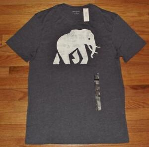 3182b55d480a3e NEW NWT Mens Banana Republic Graphic Tee T-Shirt Elephant Logo ...