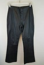 Mossimo Faux Leather Black Boot Cut Pants SZ 4 High Waisted Womens Pants Bottoms