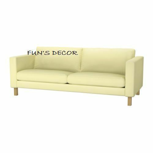 new ikea karlstad 3 seat sofa couch cover slipcover sivik light yellow - Ikea Karlstad Sofa