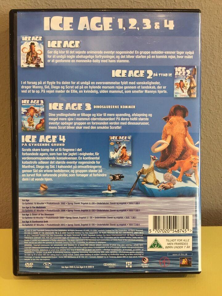 Ice Age 1-2-3-4, DVD, animation