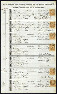 1867-Bank-ledger-page-with-R6c-revenue-stamps-handstamp-cancels-dbl-transfer-L13