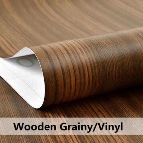 Wood Grain Self-Adhesive Wall Sticker Vinyl Film Removable Kitchen Wallpaper