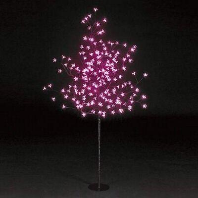 1.5m (5ft) Snowtime 200 LED bulbs cherry blossom Christmas/Xmas tree - pink