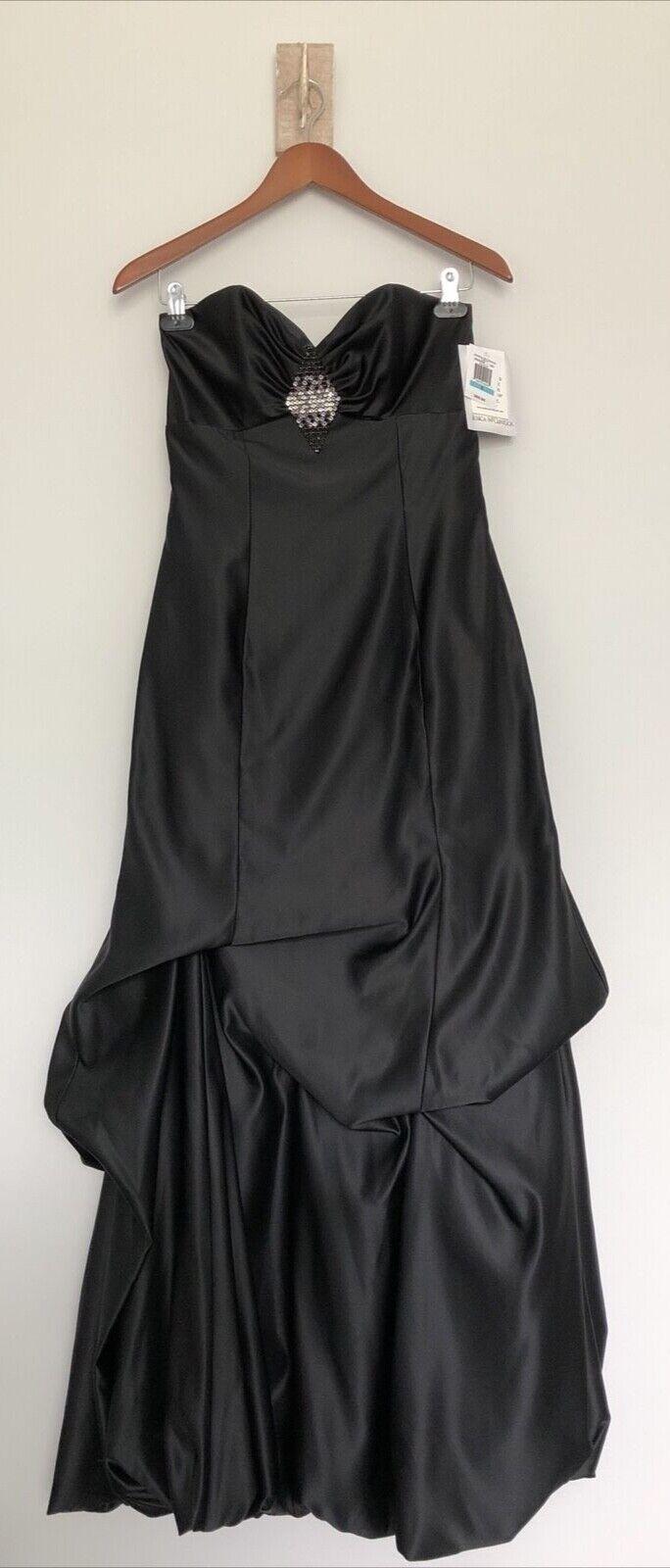 Jessica McClintock strapless bridesmaid/prom/evening gown, dress, black, size 5