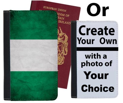 Nigerian Porte-passeport drapeau pays Football Nigeria Kit Chemise cadeau Case Cover