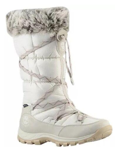 TIMBERLAND 2161R CHILLBERG WOMEN/'S WHITE WATERPROOF WINTER BOOTS SIZE 7M
