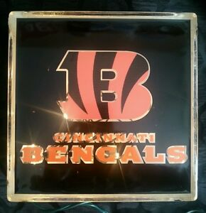 Lighted Cincinnati Bengals Glass Block Light~ Home Decor~Gift~Lamp