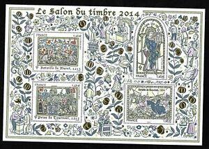 Bloc-Feuillet-2014-N-135-Timbres-France-Neufs-Le-Salon-du-Timbre-2014