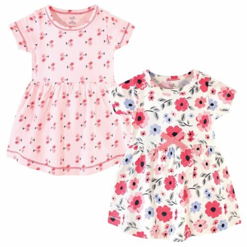 Touched By Nature Girl Organic Cotton Dress 2-Pack Coral Garden