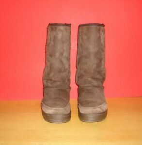 d2a7455cbc3 Details about Ugg Australia Women's 5245 Braided Ultra Tall Sheepskin Boots  Size 8 Brown