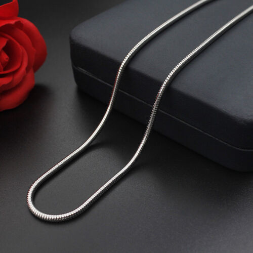 WHOLESALE 0.9/&1.2/&1.5/&2/&2.4/&3.2mm 16/'/'-24/'/' Stainless Steel Snake Chain Necklace