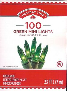 GREEN-MINI-LIGHTS-100-CT-ST-PATRICK-039-S-DAY-HOLIDAYS-PARTIES-23-FT-NIB