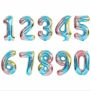 """32"""" Foil Number Balloons Air Large Happy Birthday Party Balloon US Seller"""