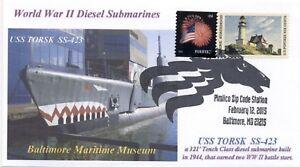 Uss-Torsk-SS-423-Museo-Sottomarino-Baltimore-Maryland-Colore-Foto-con-Vista-Pm