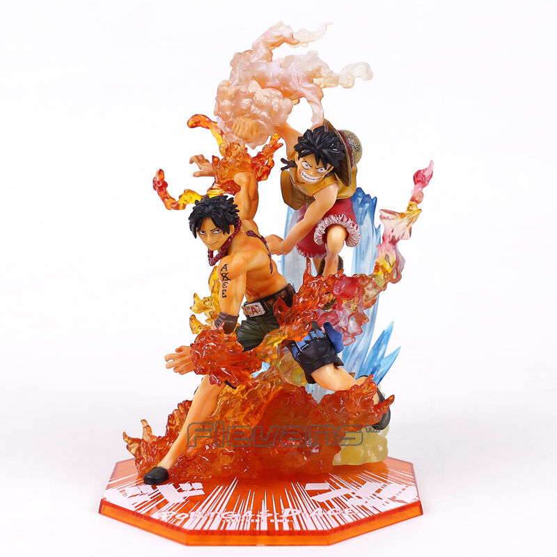 ONE PIECE - BROTHER'S BOND   MONKEY D LUFFY & PORTGAS D ACE FIGURES SET 15&18cm