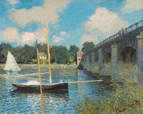 The Bridge at Argenteuil by Claude Monet Van-Go Paint-By-Number Kit