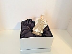 Angel Shaped Christmas Tree.Details About Angel Shaped Christmas Tree Ornament Mercury Glass White Beaded Glitter