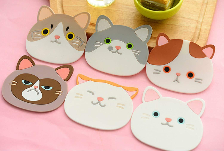 Cartoon Coasters Silicone Placemat Cushion Mug Tableware Cup Tea Pad Mat 1pcs