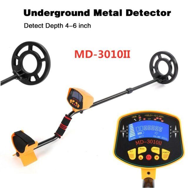 Metal Detector LCD Screen Treasure Hunting Deep Target Power Coils Waterproof UK