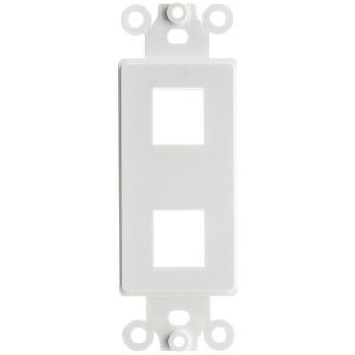 White 2-Gang Wall Plate for Keystone 10 Pack 4 Hole