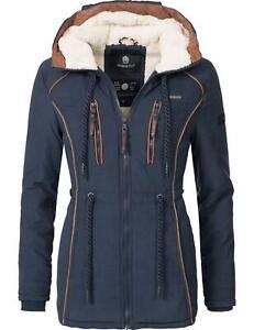 Damen Winter Jacke Kurz Mantel Parka Teddyfleece ...