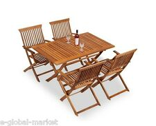 Attrayant Item 1 Outdoor Dining Table 4 Chair Set Wooden Folding Coffee Deck Patio  Furniture Wood  Outdoor Dining Table 4 Chair Set Wooden Folding Coffee Deck  Patio ...