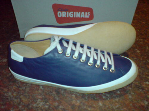 Men Clarks New Trainers Original 8 Othello Leather Navy Uk PEEdqTSO