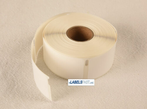 White Rolls Rat Tail Style Dymo® Compatible 30373 Pricetag Thermal Film Labels