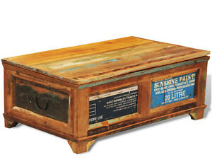 Image Is Loading Reclaimed Wood Trunk Retro Storage Chest Vintage Coffee