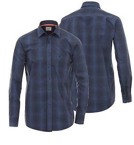 Premium Camisa Ls Talla Marino En De Moda Casa 3xl Cuadros L Mini Algodón A Azul aWqw4Bn