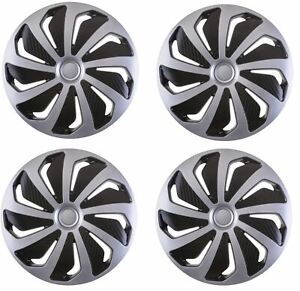 UKB4C 4 x Back /& Red Alloy Look Wheel Trims Hub Caps 14 fits Toyota Prius Avensis Aygo Yaris
