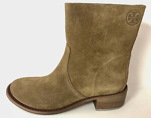 36680f617211 Image is loading TORY-BURCH-SIENA-RIVER-ROCK-SUEDE-BOOTIE-SZ-
