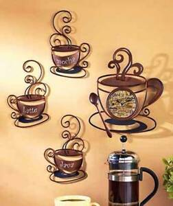 Decorative metal coffee collection metal wall art for Kitchen decor collections