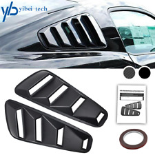 For Ford Mustang 14 Quarter Black Side Window Louvers Scoop Cover Vent 2005 14 Fits Mustang
