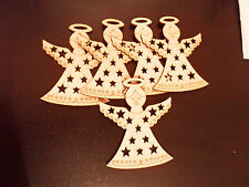 5 christmas angels Mdf Christmas Tree Decoration Blanks Baubles