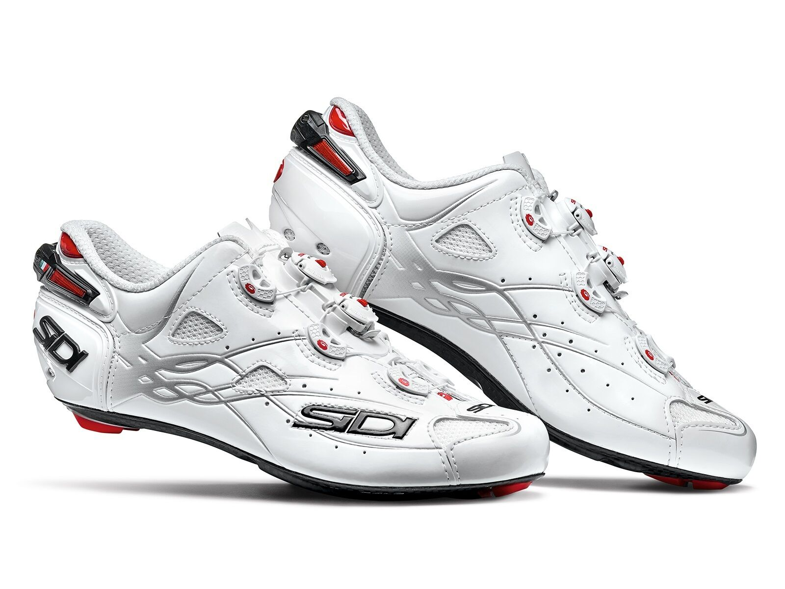 New Sidi Shot Cycling Schuhes, Weiß Weiß, EU40-47