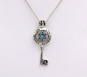 STAR-OF-DAVID-KEY-JEWISH-SYMBOL-BLUE-OPAL-amp-STAR-DESIGN