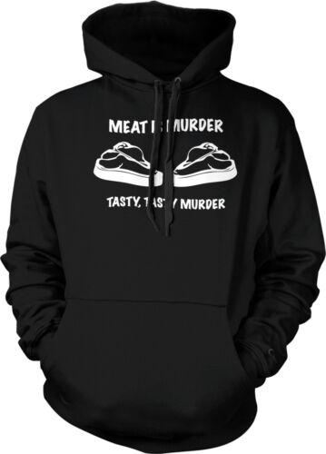 Tasty Murder Steak Carnivore Funny Gift Mens Sweatshirt Meat Is Murder Tasty