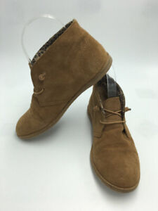 093ad6b1b Lucky Brand 6 Ashbee Tan Suede Leather Boots Booties Shoes Elastic ...