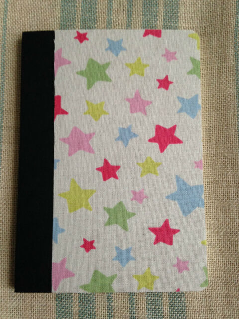 Fabric or Paper Covered Small Notebook - 10p extra p&p for each additional. (UK)