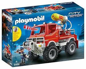 Playmobil-City-Action-9466-Feuerwehr-Truck-Seilwinde-Licht-Und-Sound-Spielset