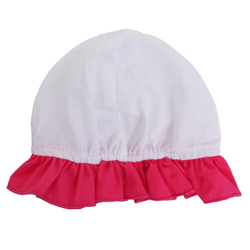 Baby Girls Playsuit Hot Baby Pink Button Up Rose with Hat Short Sleeve 0-9months