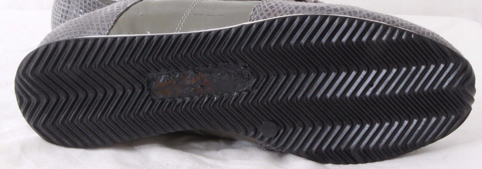 Modern Vice Skull Patent Patent Patent Snake Print Lace Up Sneaker Women's Euro 41 US 10.5 b52695