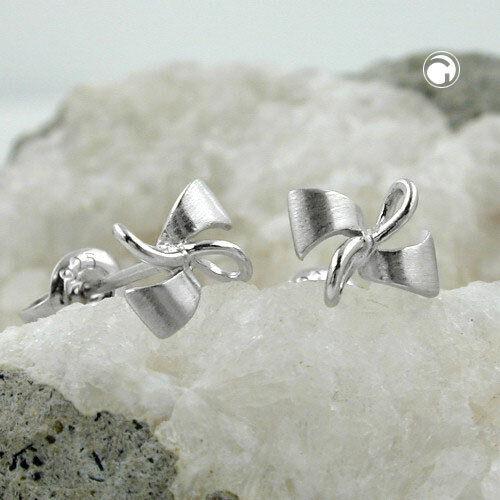 925 Sterling plata aretes pendientes 6x8mm bucle parte plata mate