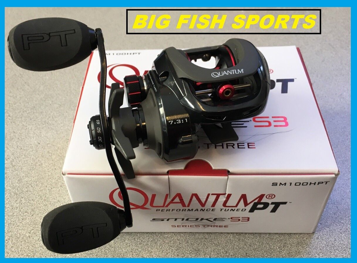 Quantum Smoke PT Series 3 Casting Fishing Reel Reel Reel New Right Hand SM100HPT 7.3:1 6f735c
