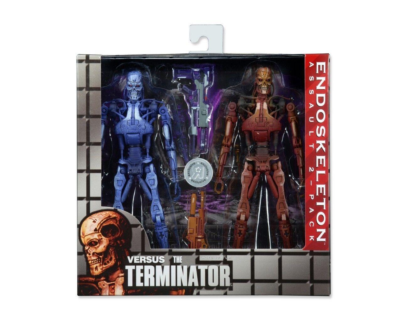 Neca Robocop vs Terminator Endoskeleton 2 Pack Figura de Acción New