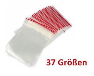 100Stueck-Druckverschlussbeutel-ECO-in-37-Groessen-Folienbeutel-Plastiktueten-Beutel